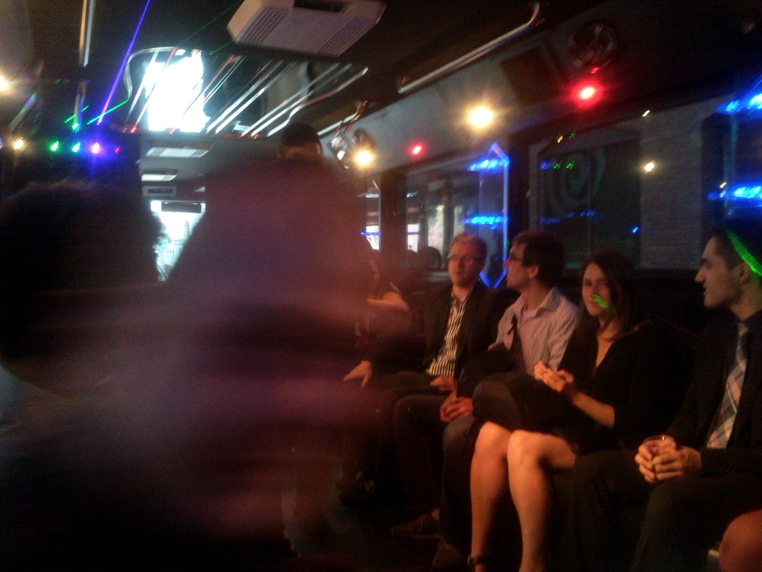 On the party bus - Vova just moved his head
